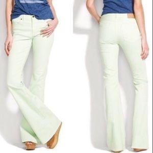 Madewell Light Green Flea Market Flare Jeans